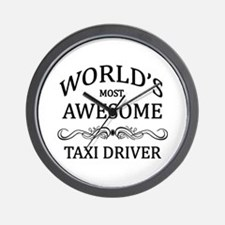 World's Most Awesome Taxi Driver Wall Clock