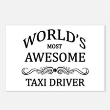World's Most Awesome Taxi Driver Postcards (Packag