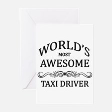 World's Most Awesome Taxi Driver Greeting Cards (P