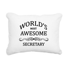 World's Most Awesome Secretary Rectangular Canvas