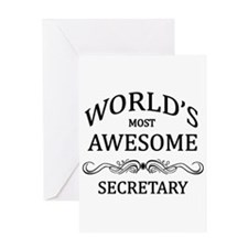 World's Most Awesome Secretary Greeting Card