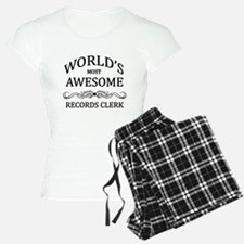World's Most Awesome Records Clerk Pajamas