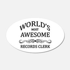 World's Most Awesome Records Clerk Wall Decal