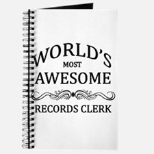 World's Most Awesome Records Clerk Journal