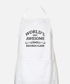 World's Most Awesome Records Clerk Apron