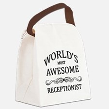 World's Most Awesome Receptionist Canvas Lunch Bag