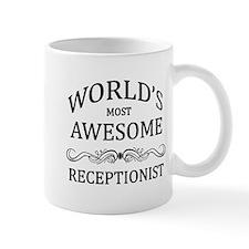 World's Most Awesome Receptionist Small Mug