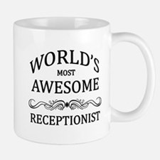 World's Most Awesome Receptionist Small Small Mug