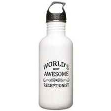 World's Most Awesome Receptionist Water Bottle