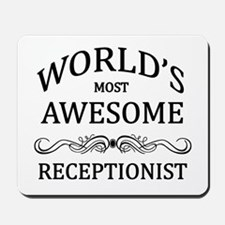 World's Most Awesome Receptionist Mousepad