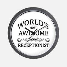 World's Most Awesome Receptionist Wall Clock