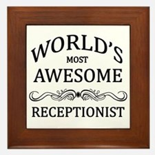 World's Most Awesome Receptionist Framed Tile
