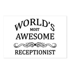 World's Most Awesome Receptionist Postcards (Packa
