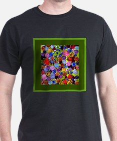 berries square green border T-Shirt