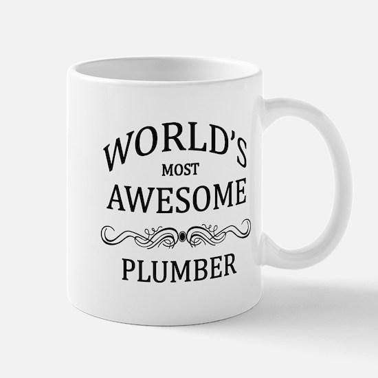 World's Most Awesome Plumber Mug
