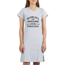 World's Most Awesome Paralegal Women's Nightshirt