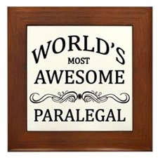 World's Most Awesome Paralegal Framed Tile