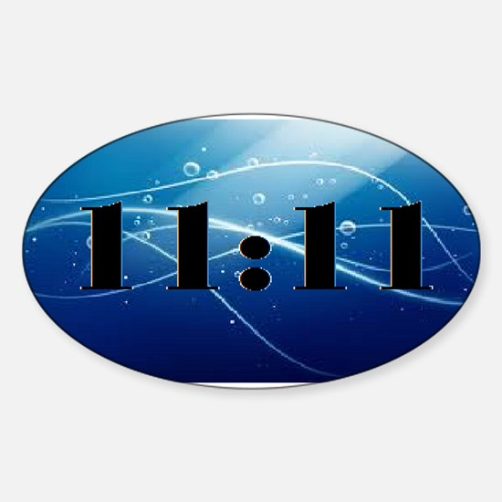 11:11 Sticker (oval)