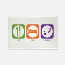Eat Sleep Seesaw Rectangle Magnet (10 pack)