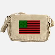 African American Flag Messenger Bag