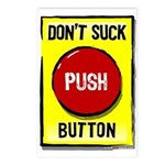 Don't Suck Button Postcards (Package of 8)