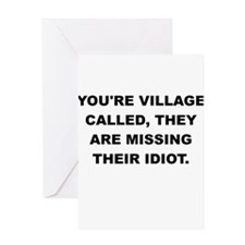 YOURE VILLAGE Greeting Cards