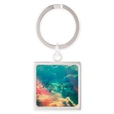 Stay Strong Square Keychain