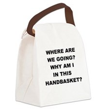 WHERE ARE WE GOING Canvas Lunch Bag