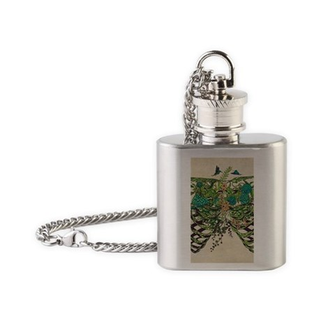 Forest Ribs Flask Necklace