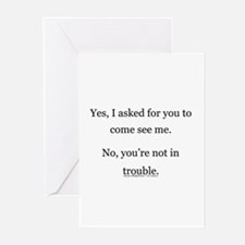 No, You're not in trouble. Greeting Cards (Package