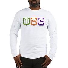 Eat Sleep Snowmobile Long Sleeve T-Shirt