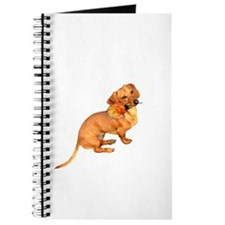 Dachshund Dog with Rose Journal