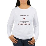 Friends and chocolate Women's Long Sleeve T-Shirt