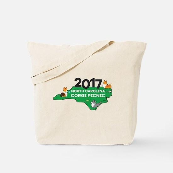 2017 NC Corgi Picnic logo Tote Bag