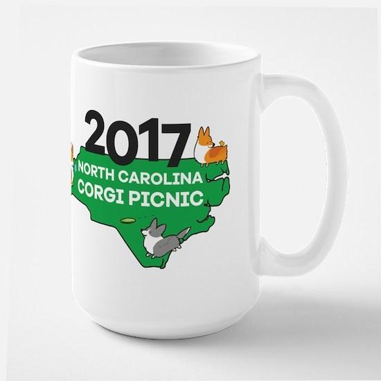 2017 NC Corgi Picnic logo Large Mug