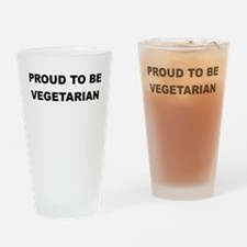 PROUD TO BE VEGETARIAN Drinking Glass