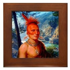 Pawnee Scout Framed Tile