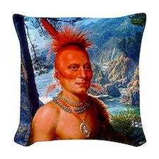 Pawnee Scout Woven Throw Pillow