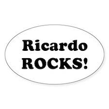 Ricardo Rocks! Oval Decal