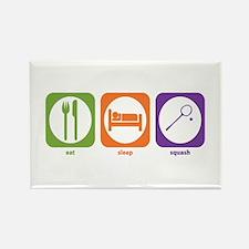 Eat Sleep Squash Rectangle Magnet