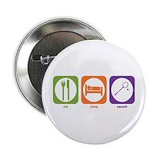 """Eat Sleep Squash 2.25"""" Button (100 pack)"""