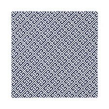 Navy Blue Greek Key Pattern Queen Duvet