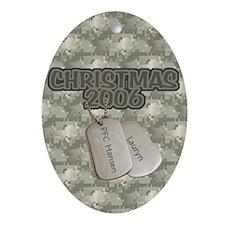 Christmas 2006 (Lauryn) Oval Ornament