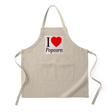 I Love Popcorn BBQ Apron