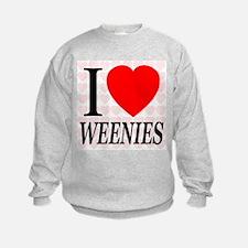 I Love Weenies Sweatshirt