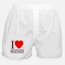 I Love Weenies Boxer Shorts