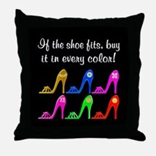 DAZZLING SHOES Throw Pillow