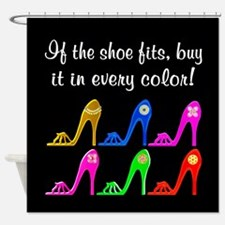 DAZZLING SHOES Shower Curtain