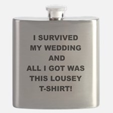 I SURVIVED MY WEDDING Flask