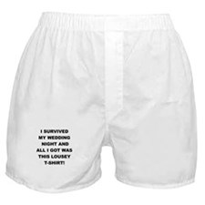 I SURVIVED MY WEDDING NIGHT Boxer Shorts